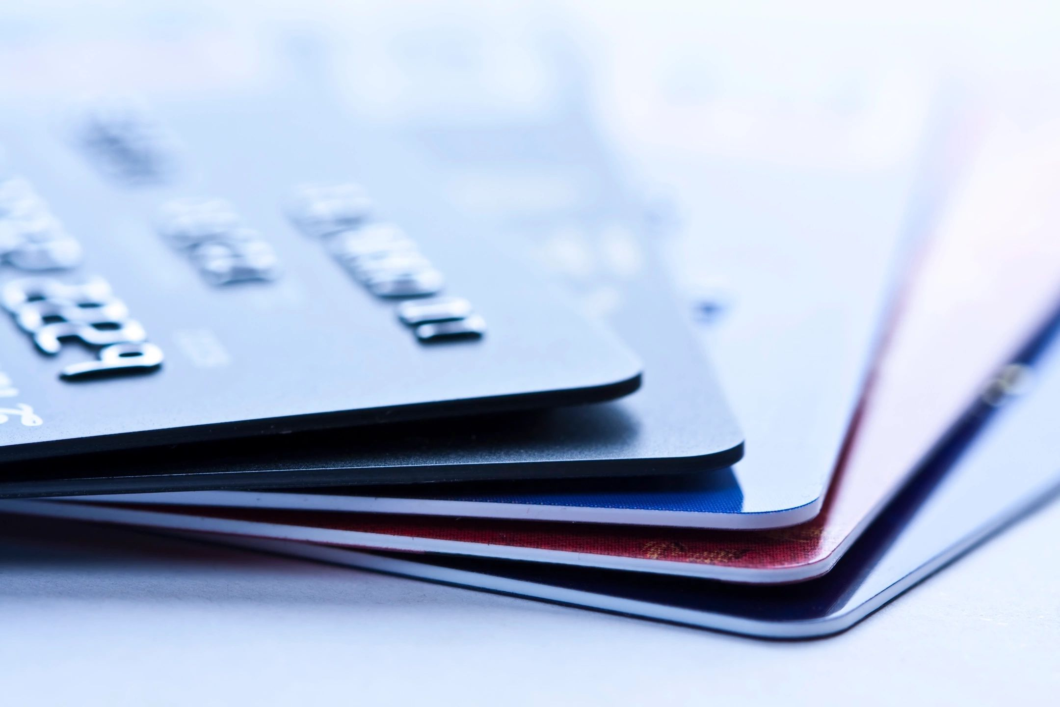A stack of credit or debit cards