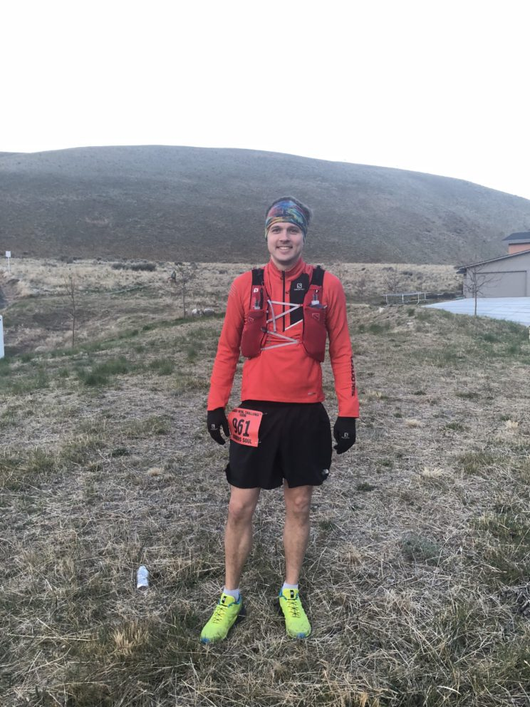 Scott Michie at the start of his first 100-mile marathon