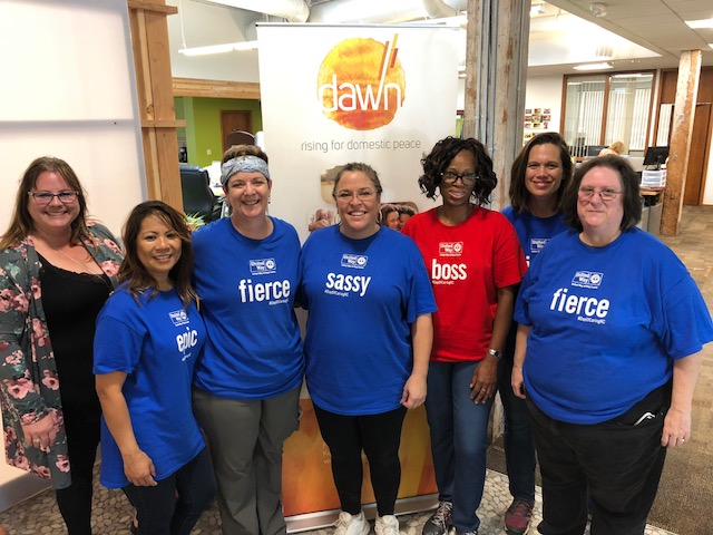 Group photo of Heritage Bank employees at the United Way Day of Caring in King County